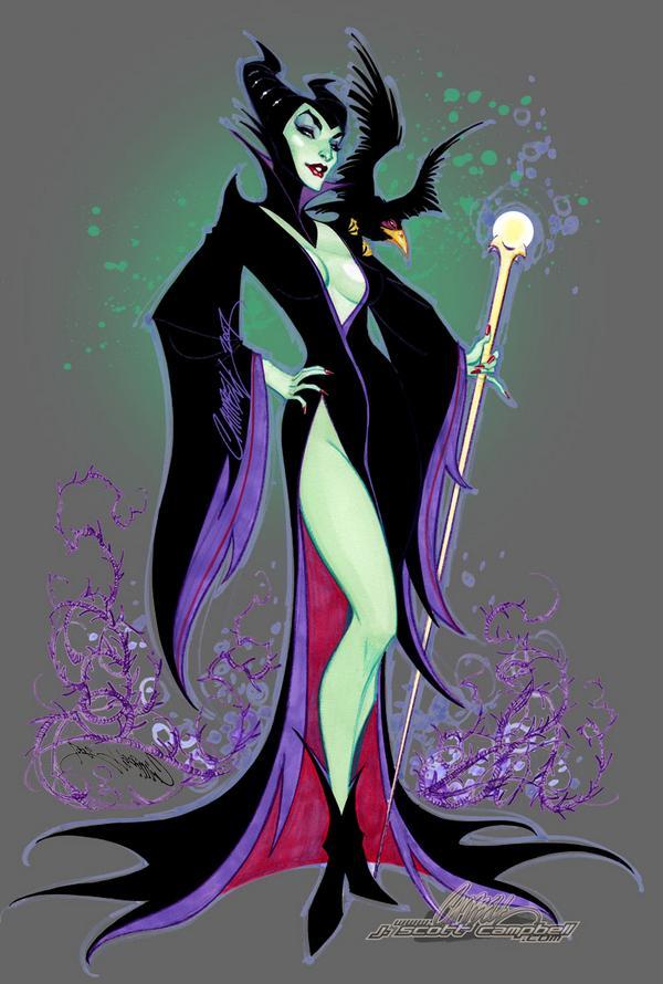 disney-Maleficent-by-J-Scott-Campbell