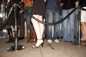 Young People Waiting Outside Nightclub
